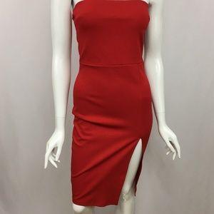 117f87126b0 Fashion Nova Dresses - Fashion Nova Brady Strapless Tube Dress Red Small